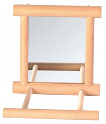 Trixie - Trixie Ahşap Zilli Tünekli Kuş Aynası 9 x 9 Cm