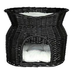 Trixie - Trixie İki Katlı Kedi Yatağı, 54X43X37cm Siyah