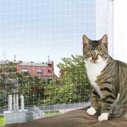 Trixie - Trixie Kedi Cam Koruma Ağı 4x3Mt Transparan