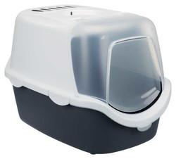 Trixie - Trixie Kedi Kapalı Tuvalet Kabı, 40×40×56cm Gri