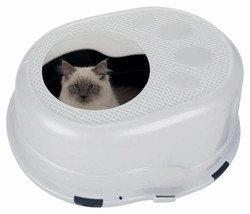 Trixie - Trixie Kedi Kapalı Tuvalet Kabı, 63×42×49cm Gri