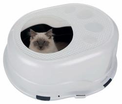Trixie - Trixie Kedi Kapalı Tuvalet Kabı 63×42×49cm Gri