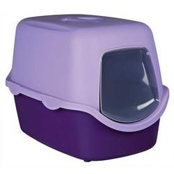 Trixie - Trixie Kedi Kapalı Tuvaleti, 40X40X56cm, Mor/Krem