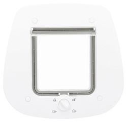 Trixie - Trixie Kedi Kapısı Cam İçin 27 x 26 cm Beyaz