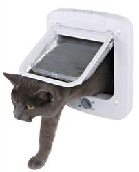 Trixie - Trixie Beyaz Çift Yönlü Kedi Kapısı 23x26,5 Cm