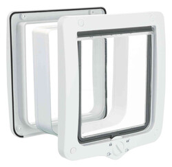 Trixie - Trixie Kedi Kapısı Dört Yönlü XL 24 x 28 cm Beyaz