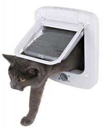 Trixie - Trixie Elektromanyetik Beyaz Kedi Kapısı 21,1x24,4 Cm