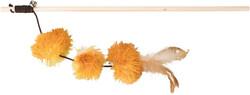 Trixie - Trixie Kedi Oltası ve Oyuncağı, Peluş Pompom Toplu, Valerianlı, 40 cm
