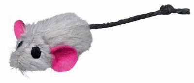 Trixie Kedi Oyuncağı Kedi Otlu Peluş Fare 5 cm 6 Adet