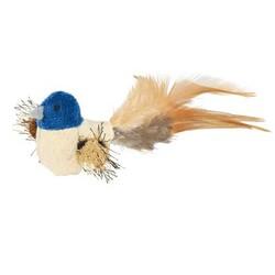 Trixie - Trixie Kedi Oyuncağı Peluş Kuş Tüy Kuyruklu 8 cm