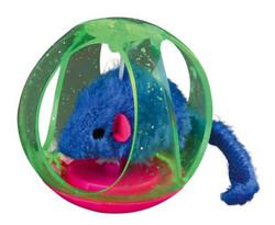 Trixie - Trixie Kedi Oyuncağı Top İçinde Peluş Fare 6 cm