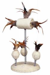 Trixie - Trixie Kedi Oyuncağı Yaylı Toplar, Tüyler 15 x 30 cm