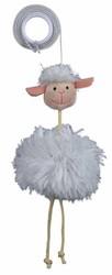 Trixie - Trixie Kedi Peluş Oyuncak Elastik İpli Koyun 20 cm