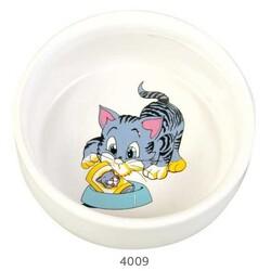 Trixie - Trixie Kedi Seramik Mama Su Kabı, 0,3 Lt / 11 cm