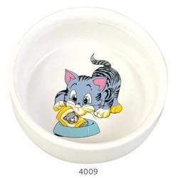 Trixie - Trixie Kedi Seramik Mama Su Kabı, 0,3Lt/11cm