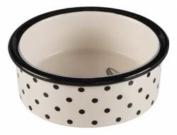 Trixie - Trixie Kedi Seramik Mama Su Kabı, Beyaz/Siyah