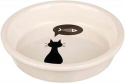 Trixie - Trixie Kedi Seramik Mama ve Su Kabı 0,25 Lt (13 cm)