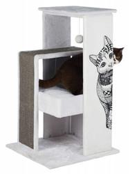 Trixie - Trixie Kedi Tırmalama Oyun Evi 101 cm Beyaz/Gri