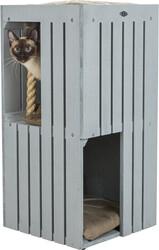 Trixie - Trixie Kedi Tırmalama ve Oyun Evi, 77 cm, Gri / Kum Beji