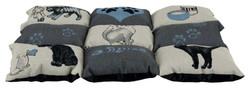 Trixie - Trixie Kedi Yatağı, 55X45cm, Gri/Açık Mavi
