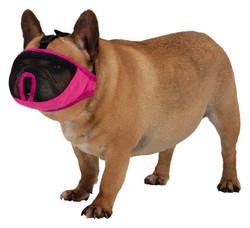 Trixie - Trixie Kısa Burun Köpek Ağızlığı, M 27cm Pembe