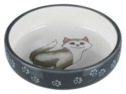 Trixie - Trixie Kısa Burunlu Kedi Seramik Mama Su Kabı