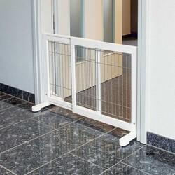 Trixie - Trixie Köpek Bariyeri, 65-108x61x31 Cm Beyaz