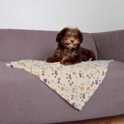 Trixie - Trixie Köpek Battaniyesi 75x50 Cm Beyaz/Bej