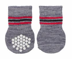 Trixie - Trixie Köpek Çorabı, Kaymaz, L-XL, 2 Adet, Gri