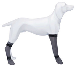 Trixie - Trixie Köpek Çorabı, Su Geçirmez, M:8cm/35cm Gri (1 Adet)