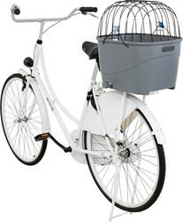 Trixie - Trixie Köpek İçin Bisiklet Arkası Sepeti, Plastik ve Metal, 36 x 47 x 46 cm, Gri