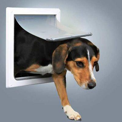 Trixie Köpek Kapısı, 2 Yollu, S–M, Beyaz