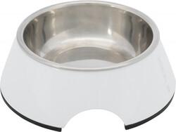 Trixie - Trixie Köpek Mama - Su Kabı, Melamin / Paslanmaz Çelik, 0.2 lt / 14 cm, Beyaz
