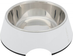 Trixie - Trixie Köpek Mama - Su Kabı, Melamin / Paslanmaz Çelik, 0.4 lt / 17 cm, Beyaz