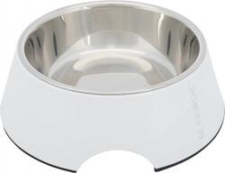 Trixie - Trixie Köpek Mama - Su Kabı, Melamin / Paslanmaz Çelik, 0.8 lt / 22 cm, Beyaz