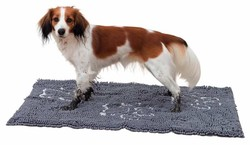 Trixie - Trixie Köpek Paspası Super Emici 80x55 Cm Gri
