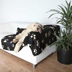 Trixie - Trixie Köpek Polar Battaniye 150 x 100 cm Siyah & Bej