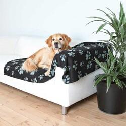 Trixie - Trixie Köpek Polar Battaniye 150 x 100 cm Siyah & Gri