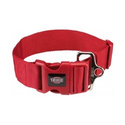 Trixie - Trixie Köpek Premium Boyun Tasması M - L Kırmızı