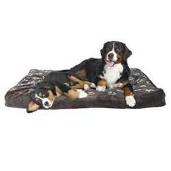 Trixie - Trixie Köpek Yatağı 100X70cm, Pati Desenli Gri