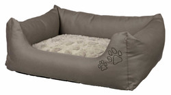 Trixie - Trixie Köpek Yatağı 110X95cm Boz Kahve/Bej