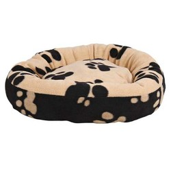 Trixie - Trixie Pati Desenli Siyah-Bej Köpek Yatağı 50 Cm