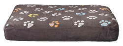 Trixie - Trixie Köpek Yatağı 60 x 40 cm, Pati Desenli Gri