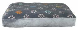 Trixie - Trixie Köpek Yatağı 80X55cm, Pati Desenli A.Gri
