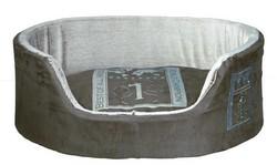 Trixie - Trixie Köpek Yatağı 85X65cm Nefti/Açık Gri