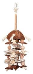 Trixie - Trixie Paraket ve Papağan Askılı Doğal Kuş Oyuncağı 42 Cm