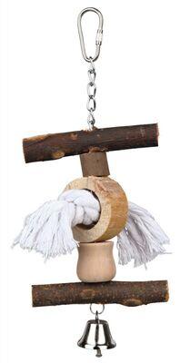 Trixie Muhabbet ve Paraket Askılı Zilli Doğal Kuş Oyuncağı 20 Cm