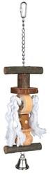 Trixie - Trixie Paraket Askılı Zilli Doğal Kuş Oyuncağı 38 Cm