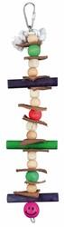Trixie - Trixie Muhabbet ve Paraket Ahşap ve Derili Kuş Oyuncağı 28 Cm