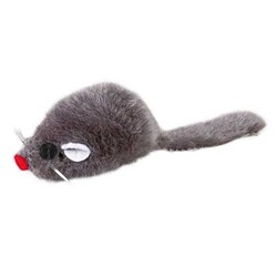 Trixie - Trixie Peluş Fare Kedi Oyuncağı 5 Cm Gri